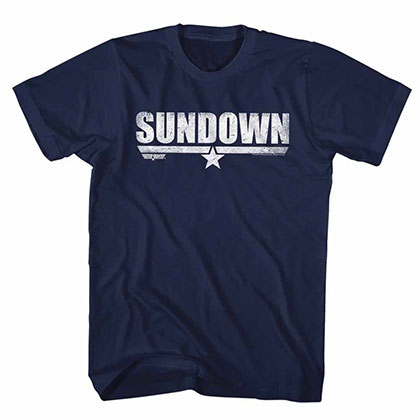 Top Gun Sundown Blue Tee Shirt