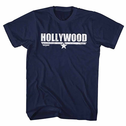 Top Gun Hollywood Blue Tee Shirt