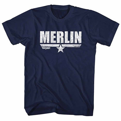 Top Gun Merlin Blue Tee Shirt