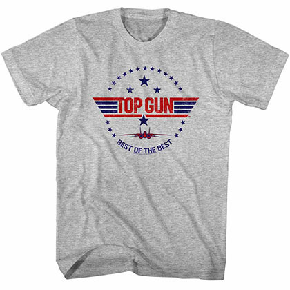 Top Gun Best Of The Best Gray Tee Shirt