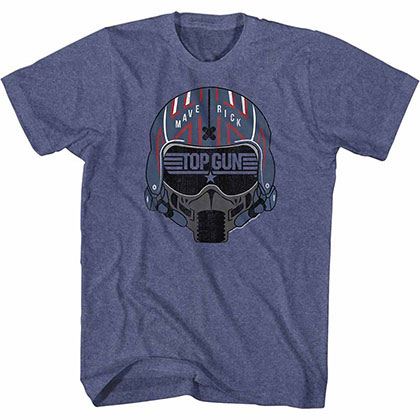 Top Gun Maverick Helmet Blue Tee Shirt