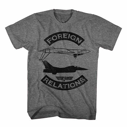 Top Gun Foreign Relations Gray Tee Shirt