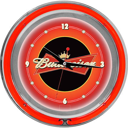 Budweiser Neon Wall Clock FREE SHIPPING - Red
