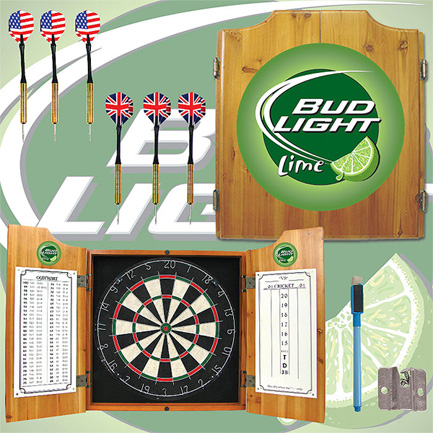 Bud Light Lime Dart Board Cabinet FREE SHIPPING