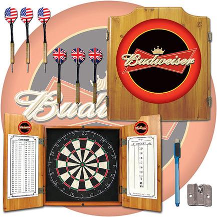 Budweiser Dart Board Cabinet FREE SHIPPING