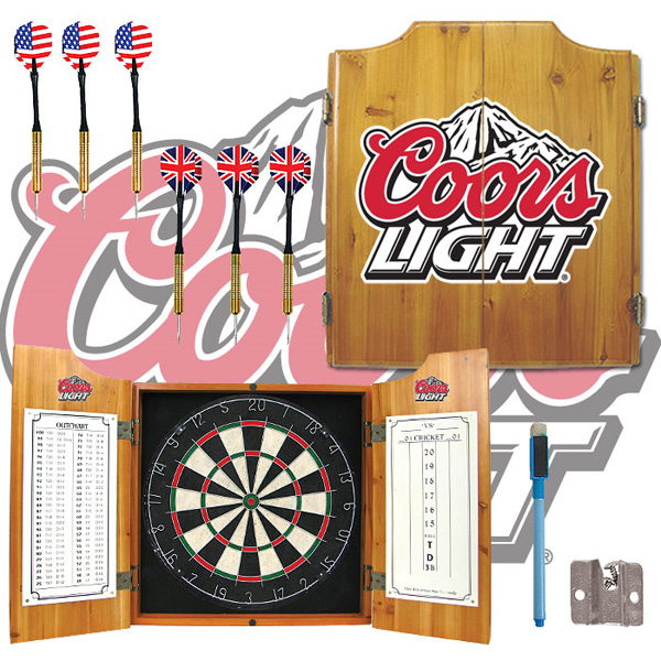 Coors Light Dart Board Cabinet Free Shipping