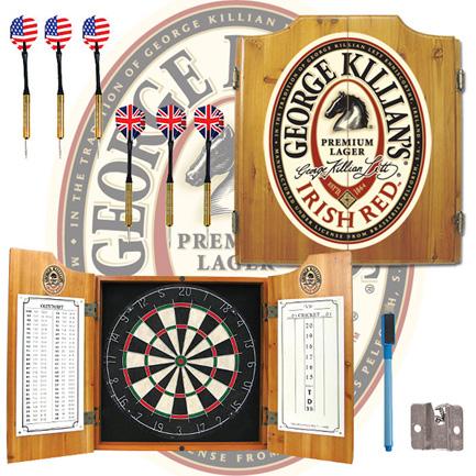 Killians Irish Red Dart Board Cabinet (FREE SHIPPING)