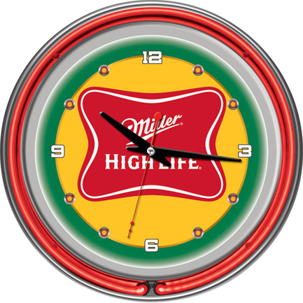 Miller High Life Neon Wall Clock FREE SHIPPING