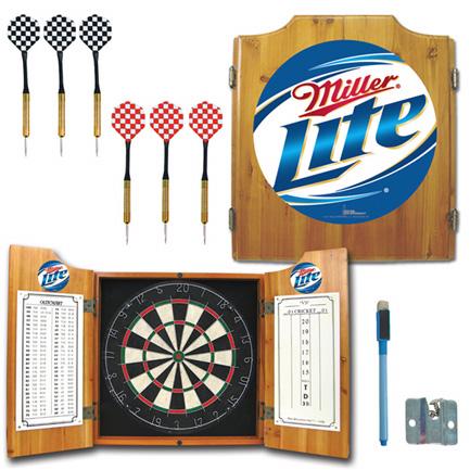 Miller Lite Dart Board Cabinet (FREE SHIPPING)