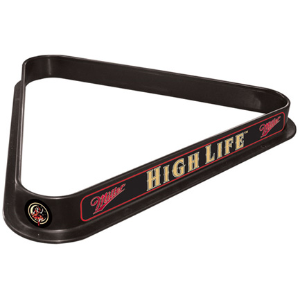 Miller High Life Girl Pool Ball Rack (FREE SHIPPING)