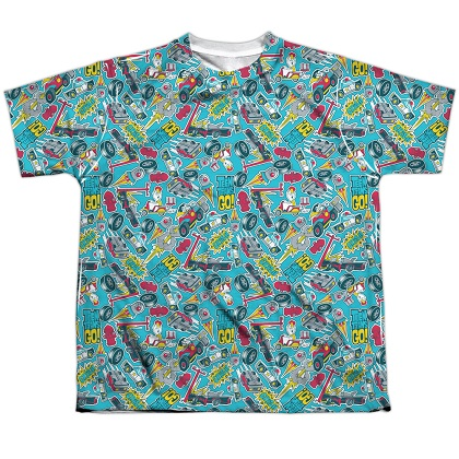 Teen Titans Go! Pattern Youth Tshirt