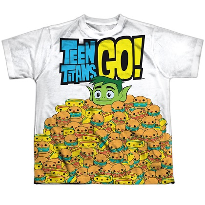 Teen Titans Go! Burgers and Dogs Youth Tshirt