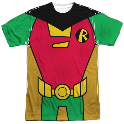 Robin Teen Titans Front and Back Print Costume Tee