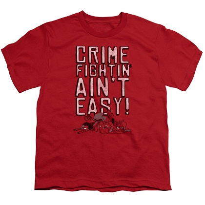 Teen Titans Go! Crime Fighting Aint Easy Youth Tshirt