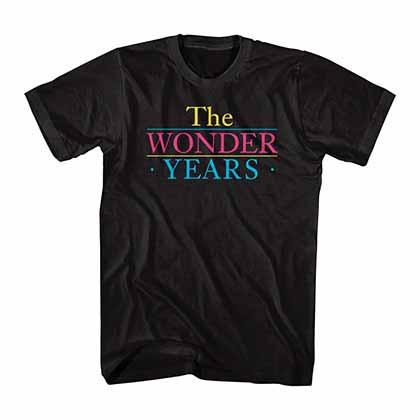 The Wonder Years Logo Black T-Shirt