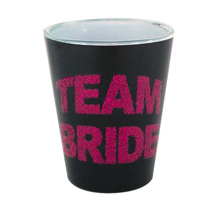 Team Bride Black Shot Glass