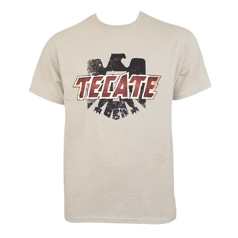 Tecate Men's Tan Logo T-Shirt
