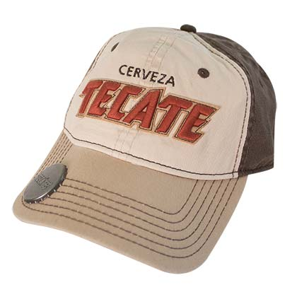 Tecate Tan Bottle Opener Hat