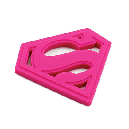 Superman Pink Baby Teether