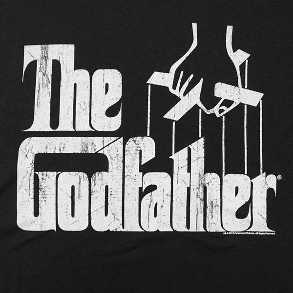 The Godfather Crackled Logo TShirt - Black