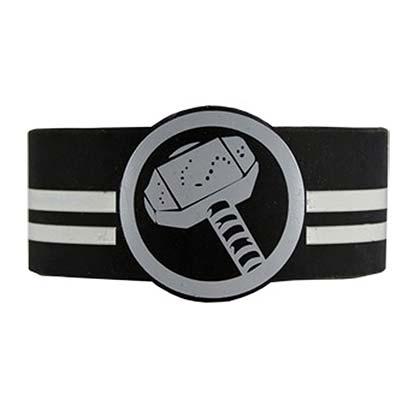 Thor Hammer Rubber Logo Bracelet