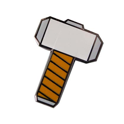 Thor Enamel Hammer Logo Lapel Pin