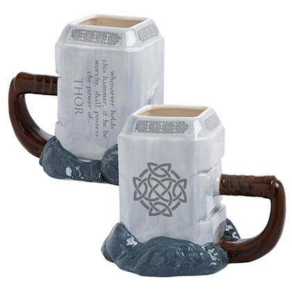 Thor Premium Sculpted Ceramic Mjolnir Mug