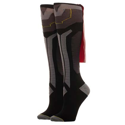 Thor Knee High Juniors Grey Costume Cape Socks