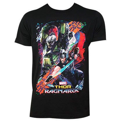 Thor Ragnarok Men's Black Movie Battle T-Shirt