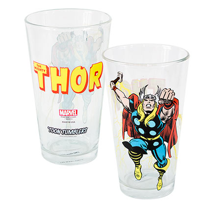 Thor Toon Tumbler Pint Glass