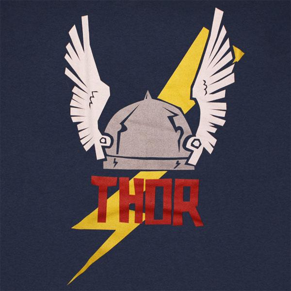 Thor Wing Helmet T Shirt - Navy