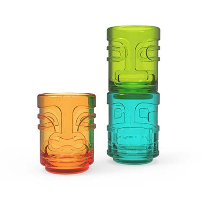 Tiki Trio Shot Glasses