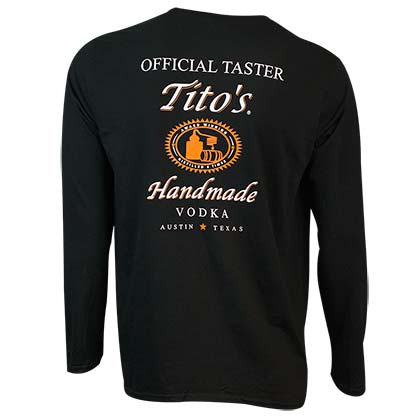 Tito's Vodka Men's Black Taster Long Sleeve Shirt