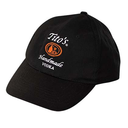 Tito's Vodka 5 Panel Black Adjustable Hat
