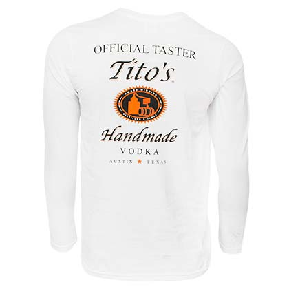 Tito's Vodka Long Sleeve White Tee Shirt