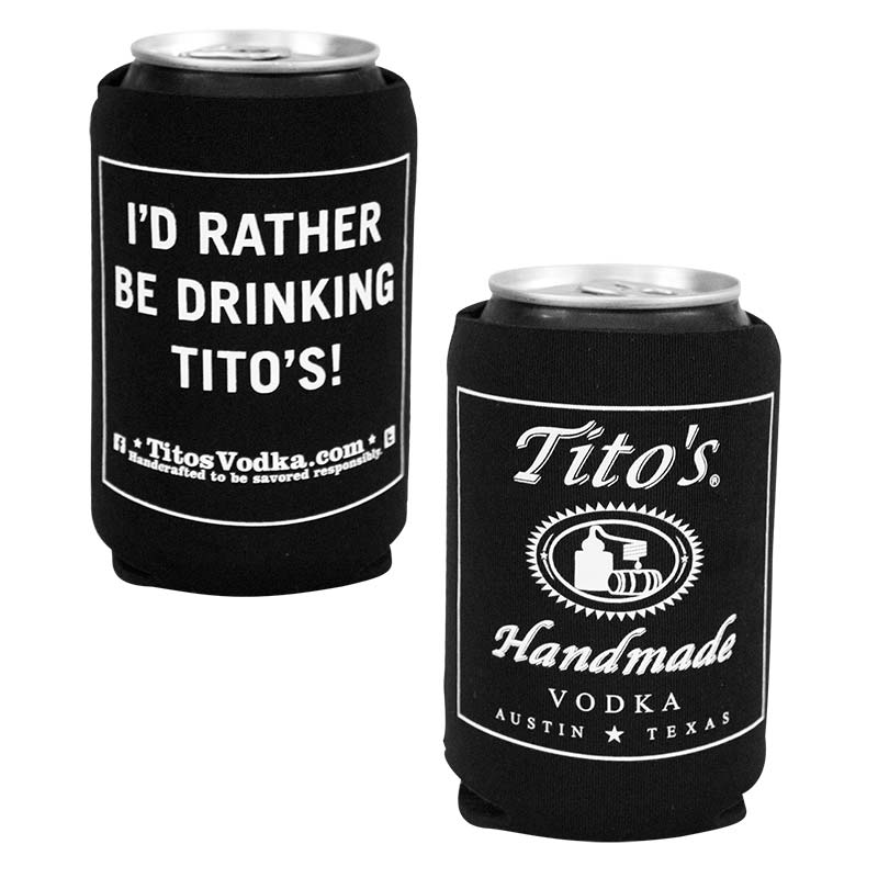 Tito's Homemade Vodka Black Can Cooler