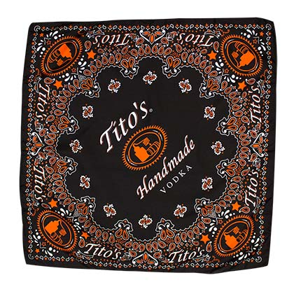 Tito's Vodka Black Bandana