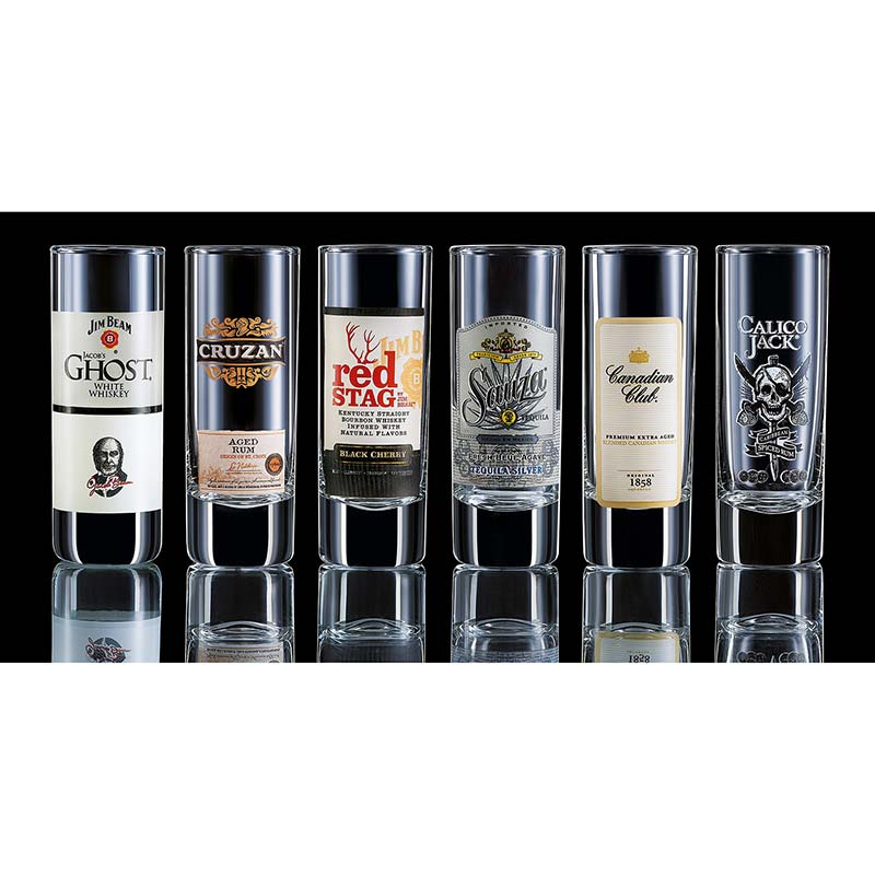 Top Shelf Liquor Shot Glasses