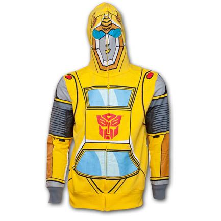 Transformers Full-Mask Zip-up Sweat Shirt - Yellow