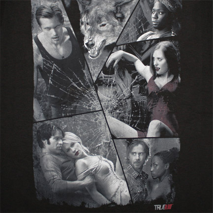 True Blood Cracked Cast Black Graphic TShirt