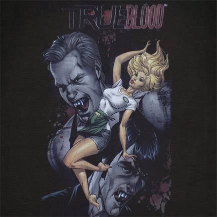 True Blood Issue 2 Cover Art Black Graphic TShirt