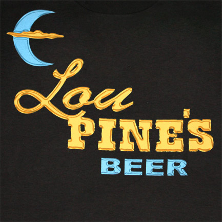 True Blood Lou Pine's Werewolf Bar Black Graphic T Shirt