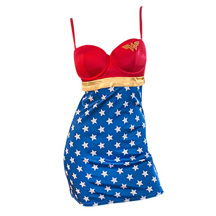 Women's Wonder Woman Stretch Satin Chamise