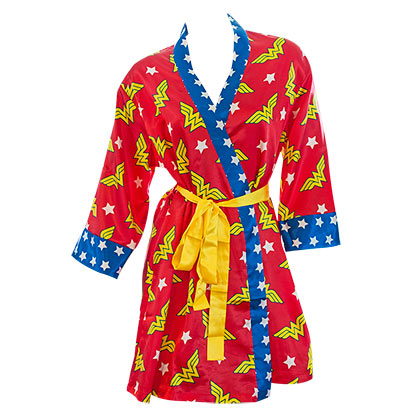 Women's Wonder Woman Satin Robe