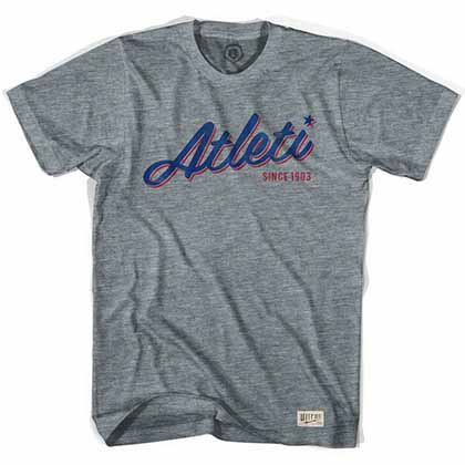 Atletico Madrid Atleti Soccer Gray T-Shirt