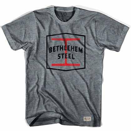 Bethlehem Steel Crest Soccer Gray T-Shirt