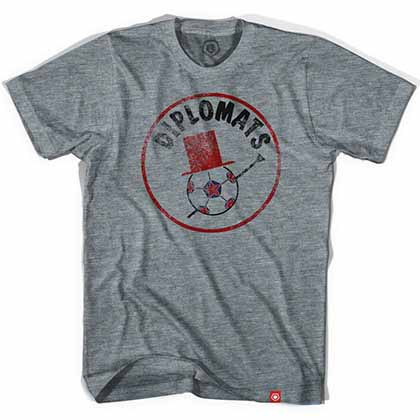 Washington Diplomats Soccer Gray T-Shirt