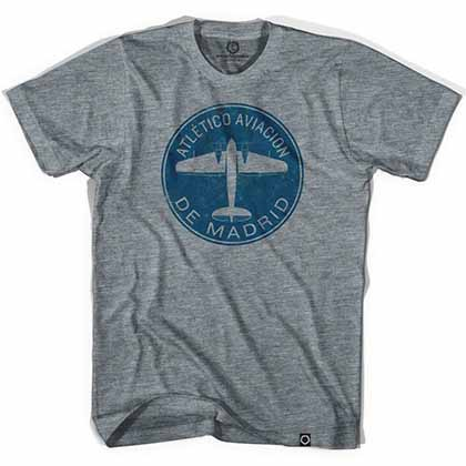 Atletico Madrid Plane Soccer Gray T-Shirt