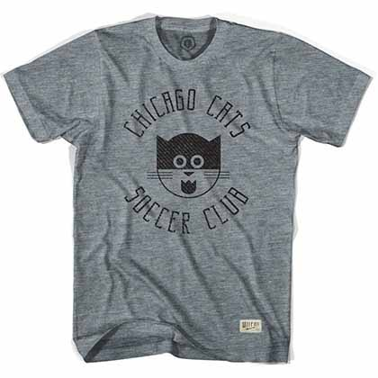 Chicago Cats Soccer Gray T-Shirt