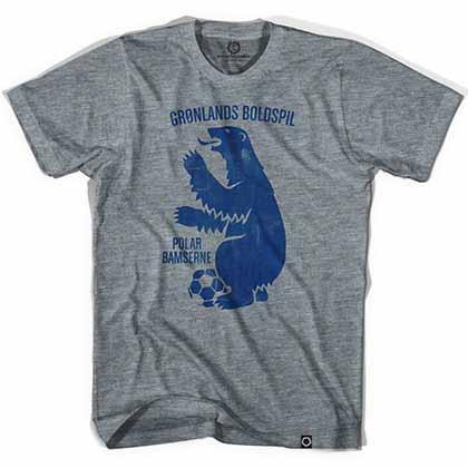 Greenland Polar Bear Soccer Gray T-Shirt